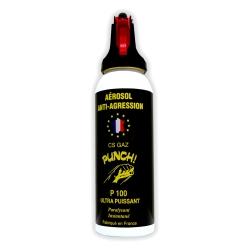 Bombe lacrymogène 100ml GAZ - PUNCH
