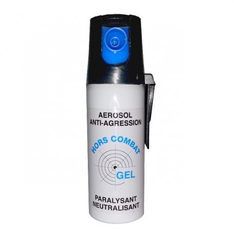 Bombe lacrymogène 50ml GEL - HORS COMBAT