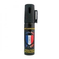 Bombe lacrymogène 25ml GEL - 100% PRO