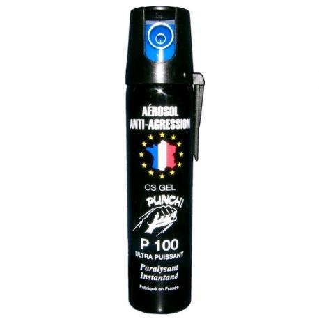 Bombe lacrymogène 75ml GEL - PUNCH
