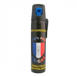 Bombe lacrymogène 75ml GAZ - 100% PRO