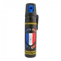 Bombe lacrymogène 75ml GEL - 100% PRO